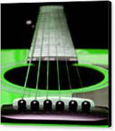 Neon Green Guitar 18 Canvas Print by Andee Design