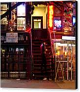 Neon Lights - New York City At Night Canvas Print by Vivienne Gucwa