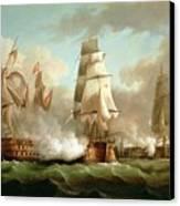 Neptune Engaging Trafalgar Canvas Print by J Francis Sartorius