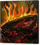 Nest On Fire Canvas Print by Tilly Strauss