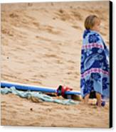 Never Too Young To Surf Canvas Print