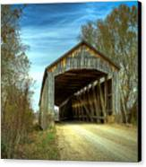 Nevins Covered Bridge Canvas Print by Jack R Perry