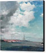 New Brighton From The Mersey Canvas Print by JH Hay
