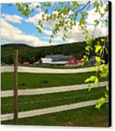 New England Farm Canvas Print by Catherine Reusch Daley