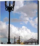 New Orleans Riverwalk Canvas Print by Joy Tudor