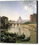 New Rome With The Castel Sant Angelo Canvas Print
