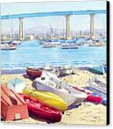 New Tidelands Park Coronado Canvas Print by Mary Helmreich