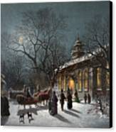 New Years Eve, C1876 Canvas Print by Granger