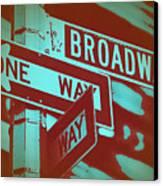 New York Broadway Sign Canvas Print by Naxart Studio