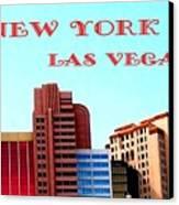 New York City- Las Vegas Canvas Print