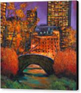 New York City Night Autumn Canvas Print