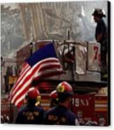 New York Firefighters And Salt Lake Canvas Print
