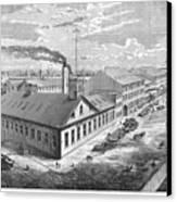 New York: Iron Works, 1876 Canvas Print