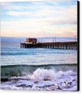 Newport Beach Ca Pier At Sunrise Canvas Print by Paul Velgos