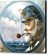 News  Map Captain  Or  Sea Captain Canvas Print