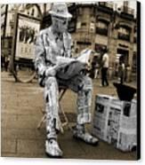 Newspaper Man Canvas Print by Rob Hawkins