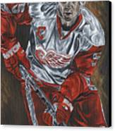 Nicklas Lidstrom Canvas Print by David Courson