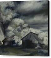 Night Barn Canvas Print