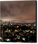 Night Cityscape Canvas Print by People are strange by Patricia Kroger