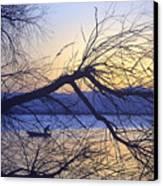 Night Fishing In Barr Lake Colorado Canvas Print