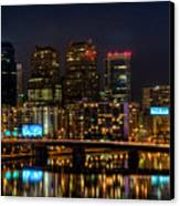 Night In The City Of Brotherly Love Canvas Print by Louis Dallara