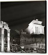 Night Panorama In Rome Canvas Print