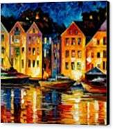 Night Resting Original Oil Painting  Canvas Print