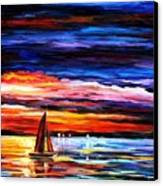 Night Sea  Canvas Print