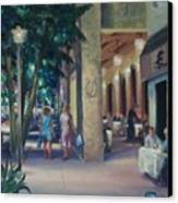 Night Shoppers Canvas Print