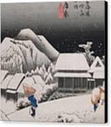 Night Snow Canvas Print by Hiroshige