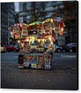 Night Vendor Canvas Print by Wayne Gill