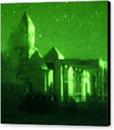 Night Vision Mosque Kandahar Canvas Print