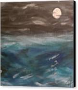 Night Waves Canvas Print by Patti Spires Hamilton