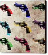 Nine Revolvers Canvas Print