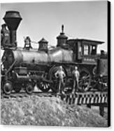 No. 120 Early Railroad Locomotive Canvas Print by Daniel Hagerman