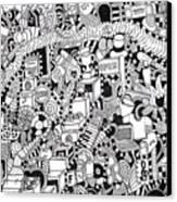 No Boundaries Canvas Print by Chelsea Geldean