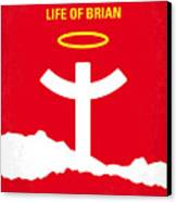 No182 My Monty Python Life Of Brian Minimal Movie Poster Canvas Print