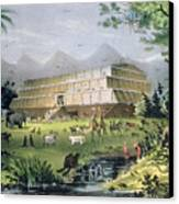 Noahs Ark Canvas Print by Currier and Ives