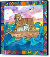 Noah's Ark Canvas Print by Pamela  Corwin