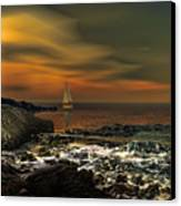 Nocturnal Tranquility Canvas Print by Lourry Legarde