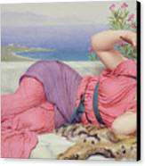 Noon Day Rest Canvas Print by John William Godward