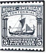 Norse-american Centennial Stamp Canvas Print