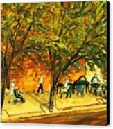 North Aurora Street Ithaca New York Canvas Print