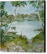 North Lake Canvas Print by Dorothy Herron