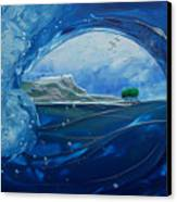North Shore Window Barrel  Hrz Canvas Print