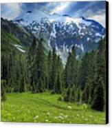 Northern Cascades In Washington State    Mount Ruth Canvas Print by Brendan Reals