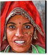 Northindian Woman Canvas Print