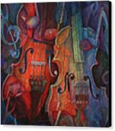 Noteworthy - A Viola Duo Canvas Print by Susanne Clark