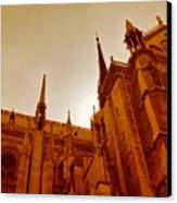 Notre Dame At Sunset Canvas Print