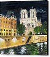Notre Dame Canvas Print by Bruce Schmalfuss